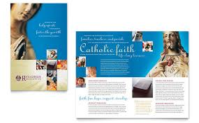 Education Brochure Templates Catholic Parish And School Brochure Template Design