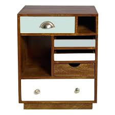 wooden side table with drawer modern style height oak side table stand with small drawers and