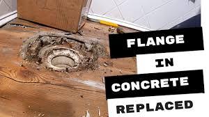 pvc toilet broken in concrete