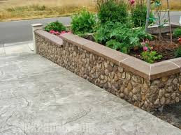 Small Picture Landscape Retaining Walls Ideas with Faux Stone Brick
