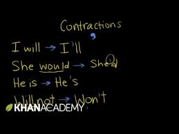 introduction to contractions video khan academy