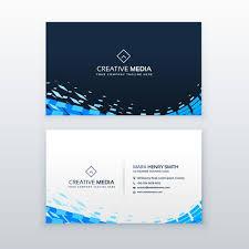 Abstract Modern Blue Business Card Design Download Free Vector Art