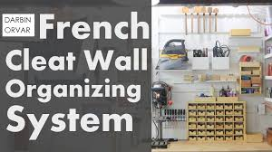 french cleat wall system and lots of boxes
