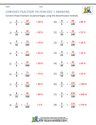 Convert Fraction To Percent