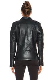 image 5 of blk dnm leather jacket 8 in emerald blue