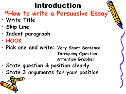"persuasive essay checklist persuasive essay checklist  2 introduction "" how to write a persuasive essay"" write title"