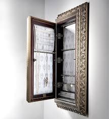 storage wall mount jewelry armoire