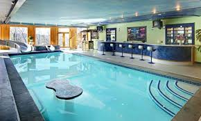 swimming pool: Fascinating Indoor Swimming Pool Using Pool With Bar  Inspiration That Completed With Modern