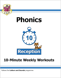 Present the english language and learning in the classroom in a fun and interactive way. English 10 Minute Weekly Workouts Phonics Reception Cgp Books
