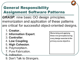 Grasp Patterns Classy GRASP Designing Objects With Responsibilities Ppt Video Online