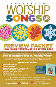 Press Release Format 2020 2019 2020 Worship Songs Junior Preview Packet Hal Leonard