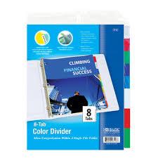 8 Tab Binder Dividers Bazic Poly Three Ring Binders Dividers 24
