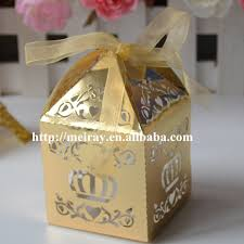 laser cut wedding cake candy gift box gold indian wedding return gift favor box birthday party decorations in gift bags wrapping supplies from home