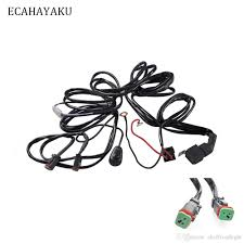 2019 ecahayaku car auto led work driving lights wiring loom harness 2019 ecahayaku car auto led work driving lights wiring loom harness offroad light bar 3 metes wire cable 40a 12v 24v switch relay kit from ekoffroadlight
