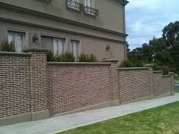 Fence Designs Mesmerizing Brick Wall Home Fencing Design Ideas