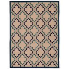 nourison aloha navy 5 ft x 7 ft indoor outdoor area rug