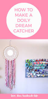 What Is A Dream Catcher Supposed To Do How to make a DIY doily dream catcher Dear Handmade Life 95
