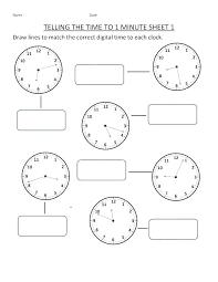 Time Worksheets Kindergarten Free Teaching Telling Worksheet ...
