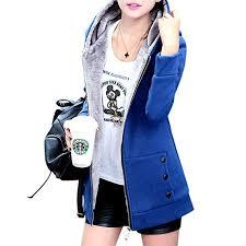 Buy Alician <b>Women Fashion Autumn Winter</b> Thicken Hooded Coat ...