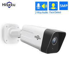 Hiseeu 5MP 2MP gözetim POE IP kamera 2 yönlü ses açık su geçirmez güvenlik  güvenlik kamerası POE Video kaydedici H.265|Surveillance Cameras