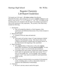 Hl Chemistry Lab Report Format