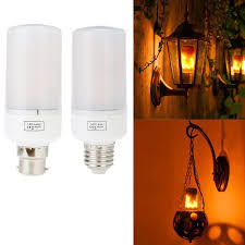 Light Bulbs That Look Like Fire 7 97 3 Modes Led Flame Effect Simulated Nature Fire Light