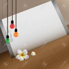 White Paper Flower Bulbs White Paper In Frame Placed Against The Wall With White Flower