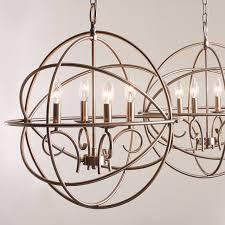 kichler vivian 19 inch 4 light brushed nickel globe chandelier bulbs included
