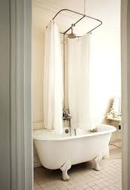clawfoot bathtub shower curtain centered shower curtain rod for original claw foot tub in an apartment clawfoot bathtub shower curtain
