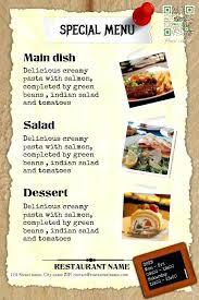 A La Carte Menu Template Restaurant Menu Template Vintage Design A La Carte Free