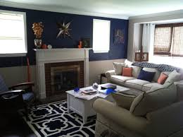 Navy Blue Living Room Decor Orange And Navy Living Room For The Home Pinterest Gray