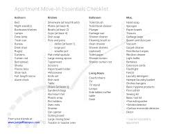 New Apartment Checklist 24 New Apartment Checklist Examples Samples 12