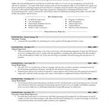 Social Work Resume Summary Msw Resume Sample Food Service Server