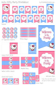 Hello Kitty Birthday Party Printables Free Best Person