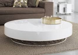 medium size of interior round white gloss coffee table high lacquer finish view tables fascinating