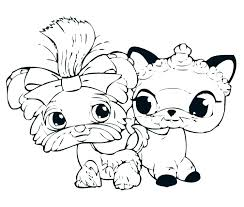 Coloring Pages Littlest Pet Shop Coloring Pages Cuties Shopping