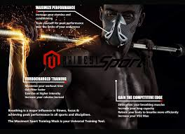 amazon maximest sport workout mask peak fitness for gym running athletics cycling mma football high alude elevation effect