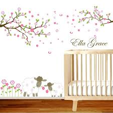 wall decal baby baby nursery wall decals green and brown monkey wall nursery wall decals tree wall decal baby