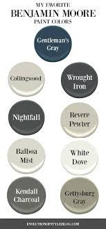 Benjamin Moore Paint Color Wheel Chart My Favorite Benjamin Moore Paint Colors Evolution Of Style