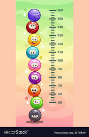 Child Height Chart For Wall Kids Height Chart Wall Metter With Funny Cartoon