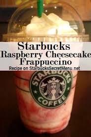 starbucks secret menu raspberry cheesecake frappuccino