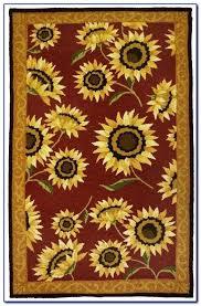 sunflower rug delicate sunflower kitchen rug floor mat sunflower rug 5 x 7 sunflower rug hooking