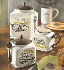 new coffee themed canister sugar bowl creamer kitchen decor gift coffee themed kitchen rugs