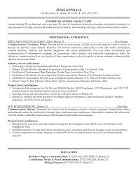 example communications consultant resume   free sample