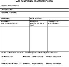 best functional behavior assessments images functional behavior assessment template abc functional assessment card connectability