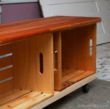 ideas 17 crate bench on wheels still needs work petticoat junktion regarding wooden inspirations 18
