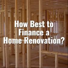 Financing A Home Renovation