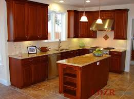cabinet in kitchen design. L-shaped Small Kitchen Design With Woden Cabinet In