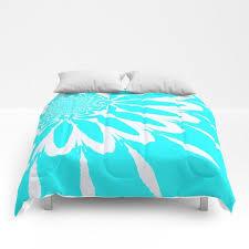 duvet cover or comforter aqua white