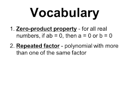 10 4 solving polynomial equations in factored form objective i will use the zero 2 voary 1